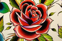 lyon-tatoueur-rose-old-school